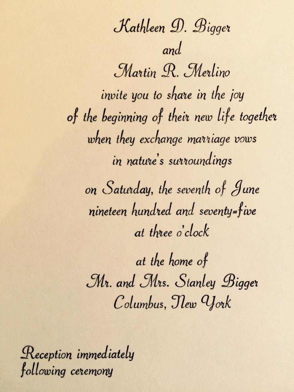 1970s A Brief History Of Wedding Invitations Wedding Invitations