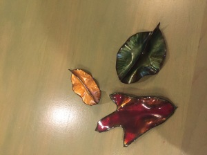 Kathy's enameled fall leaves